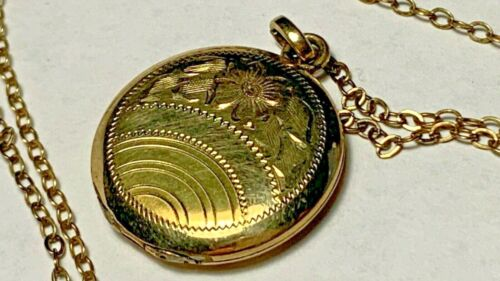 Unmarked Gold Locket and Chain