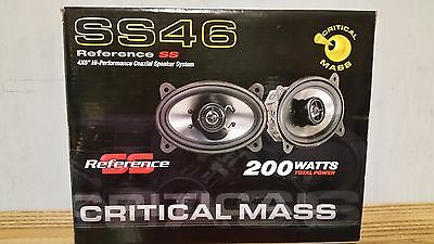 CRITICAL MASS AUDIO SS46 GM 4X6 SPEAKERS BEST DASH SOUND COAXIAL COMPONENT