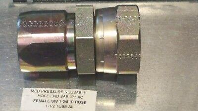 Parker Hannifin Reusable 20621-24-24 Hydraulic Hose End