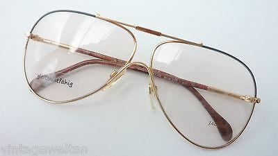 Jaguar Brillen Luxusmarke extragroße Pilotform für Männer Metallgestell Grösse M