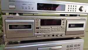 DENON DRW-585 double cassette deck. HX pro Hallett Cove Marion Area Preview