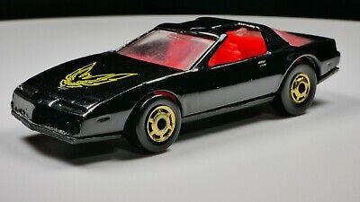 1980's Hot Wheels '80s Firebird Black w/ Red Interior & Gold Malasya Black T-Top