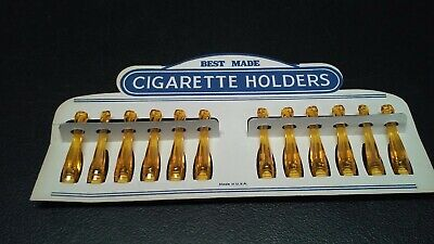 Vintage Best Made Cigarette Holders 12 pc. Original Store Display Made in (Best Cigarettes In Usa)