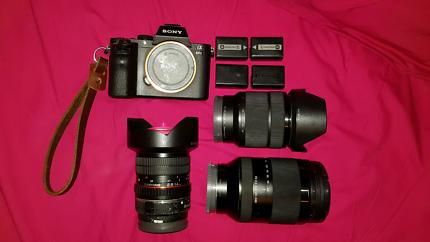 For hire, Sony camera, lens, A7 mark II, FE 24 240,FE 2870, 14mm