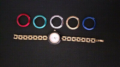 Vintage Gucci Women's 11/12.2 Watch Interchangeable 6 Bezels
