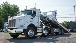 2013 KENWORTH T800 FLATBED ROLL-OFF CONTAINER