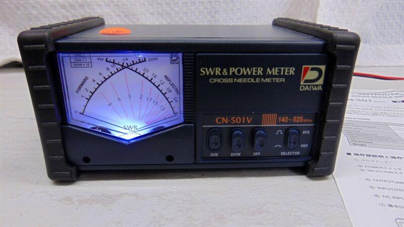Daiwa CN-501V 140-525MHz 20/200W Lighted Cross Needle SWR-Power Watt Meter