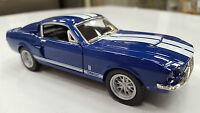 1967 Shelby Gt-500 Blu Kinsmart Giocattolo Modello 1/38 Scala Nuovo Stock -  - ebay.it