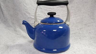 Le Creuset  Vintage 2.1L Blue Traditional Stovetop Kettle Grade B