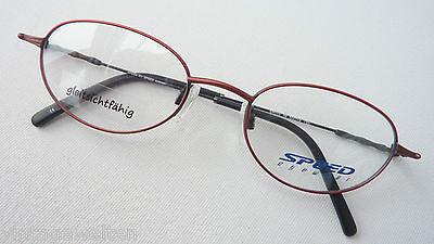 Speed Eyewear ovale Metallbrille extraleicht Brillenfassung rotbraun 50-19 sizeM
