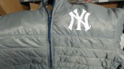 MLB New York Yankees Baseball pale weight  Coat long sleeves & zip pockets NEW