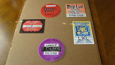 10   CONCERT  PASSES   WITH  VARIOUS  ARTISTS   PINK  FLOYD / MOODY  BLUES , ECT