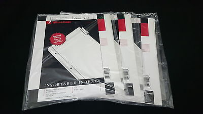 Wilson Jones - Lot Of 3 - 55206 Insertable Indexes 5 Tab Clear Dividers 11x9.25