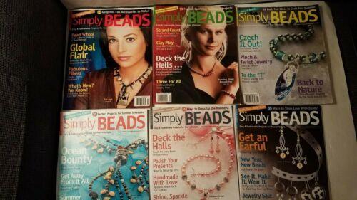 Lot of 6 Simply Beads magazine 2006-2009