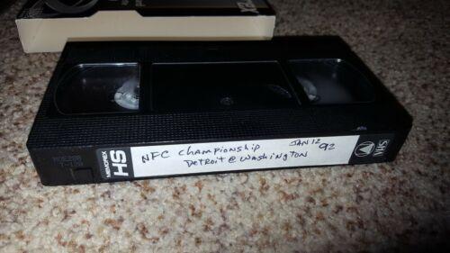 Memorex VHS Blank Tape 1991 NFC Championship Detroit Lions Washington Redskins