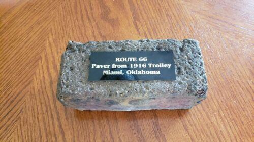 Route 66 Paving Brick - 1916 Miami, Oklahoma