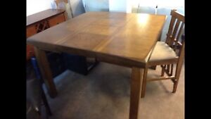 New Pub Height 5Piece oak dining table with four matching stools
