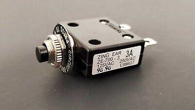 3a 125 250v Push-button Circuit Breaker Wquick Connect Term - Philmore B7003