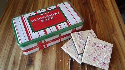 Candy Bark (Trader Joe's Peppermint Bark Dark & White Chocolate 16oz Candy Cane Tin Box)
