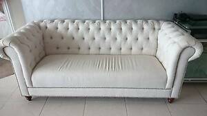 Fabric Chesterfield Style  Sofa Labrador Gold Coast City Preview