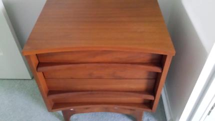 Solid wood bedside tables and dresser
