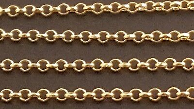 (14 k Solid Yellow Gold 1.5mm Italian Rolo Chain Necklace 18