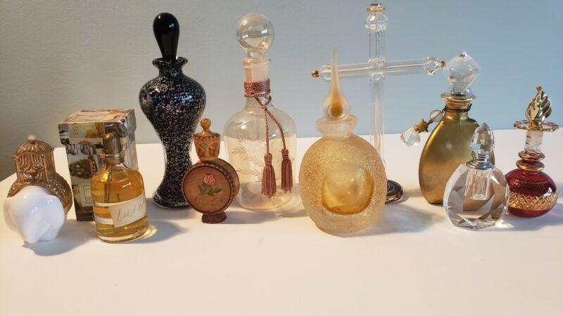 7 Vintage Perfume bottles, Avon bottle, Egyptian fragrance & Bulgarian Rose