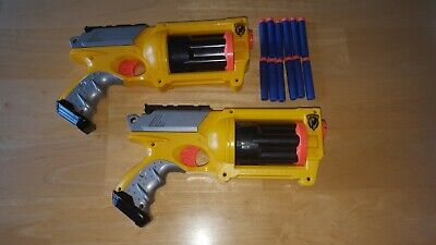 NERF Gun Lot  2 N-STRIKE ELITE MAVERICK REV-6 Dart Blasters Darts Included