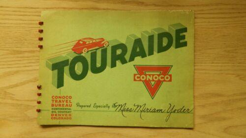 1938 CONOCO TOURAIDE TRIP BOOKLET OREGON, MONTANA, IDAHO CONTINENTAL OIL CO.