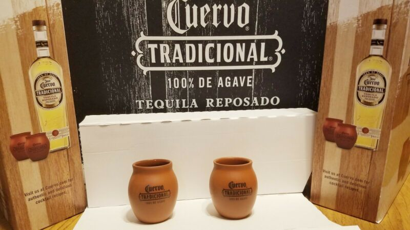 JOSE CUERVO TRADICIONAL TEQUILA SET OF 2 JARRITOS /SHOT GLASSES BRAND NEW!!!