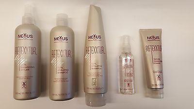Nexxus SALONE cura dei capelli retexxtur Range, Shampoo, BRILLANTINA, SPRAY E