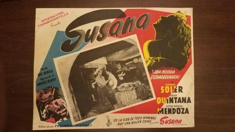 LUIS BUNUEL LOBBY CARD ORIGINAL -SUSANA 1951