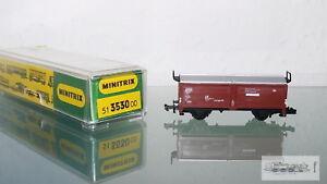 MINITRIX-3530-Vagon-Con-Techo-corredizo-Aleman-Tren-para-ESCALA-N-CAJA-orig