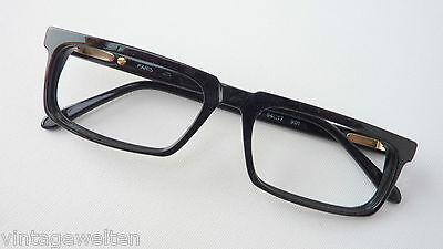 Lancel Paris Herrenbrille  eckige Glasform Markenfassung 54-17 black  size M