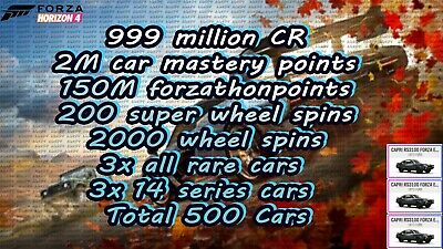Forza Horizon 4 Modded Account Series 14 | 3x ALL RARE CARS