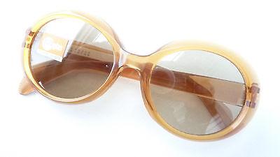 60er Jahre Sonnenbrille Frauen Echtglas braun Echtenia Germany große Form Gr. M