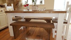 Shabby Chic, IN WHITE, OR CREAM Rustic, Dining Table, 2 Chairs And Part 91