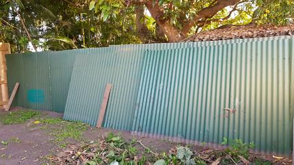 corrugated iron fence panels