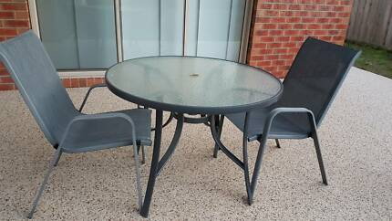 Outdoor Glass Table With 2 Chairs. $50.00. Waurn Ponds Part 4