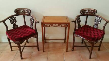 Chinese Rosewood Table Set For Sale