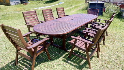 9 Piece Expandable Hardwood Outdoor Setting Part 44