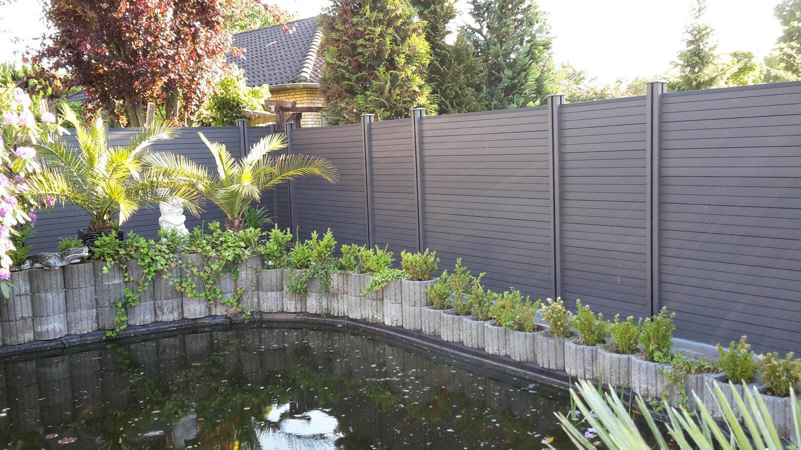 Terrasse Anthrazit Wpc Fliese Fr Garten Balkon Und Terrasse Er