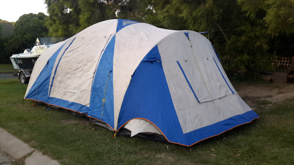 Bcf3 room dome tent excellent condition $125 2 room canvas tent & Jackeroo 10 Man 2 Room Dome Tent. Plus Brand New Air bed ...