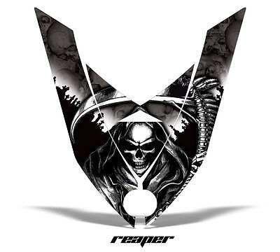 Amr Racing Sled Hood Wrap Graphic Decal Ski-doo Rev Xp Part Snowmobile Reaper Bk