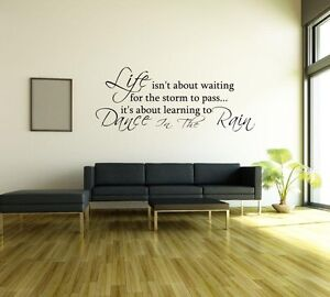 Dancing-in-the-Rain-Wall-Sticker-Removable-Vinyl-Decal-Art-Quote-FL