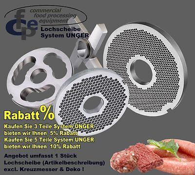 """Fleischwolf Lochscheibe System UNGER, R70  10,0 mm -TOP Qualität- """"RABATTE"""""""