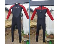 Wetsuits - various sizes. Sold individually or as a package.