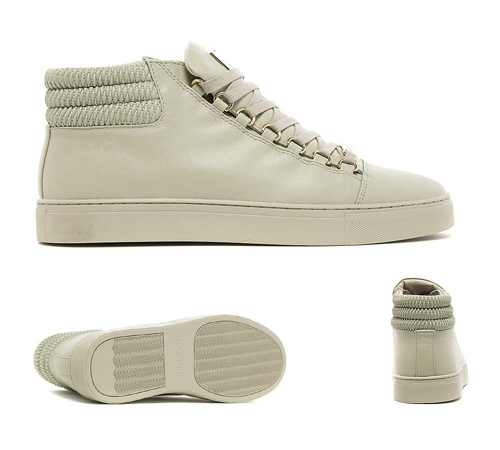 Mens GG By Condemned Nation Clash White//White//Gold Trainers RRP £74.99
