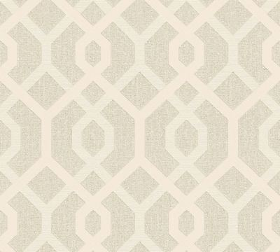 eometric Pattern Vinyl Metallic Wallpaper Embossed Modern (Metallic Gold Vinyl)