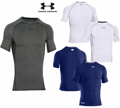 Under Armour Mens T Shirts Compression HeatGear Top Sports Tee Size M L XL XXL